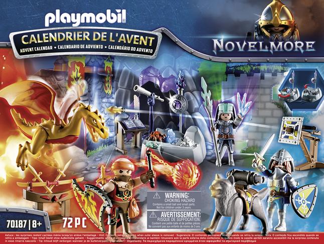Playmobil Calendrier.Playmobil Novelmore 70187 Calendrier De L Avent Duel De Chevaliers
