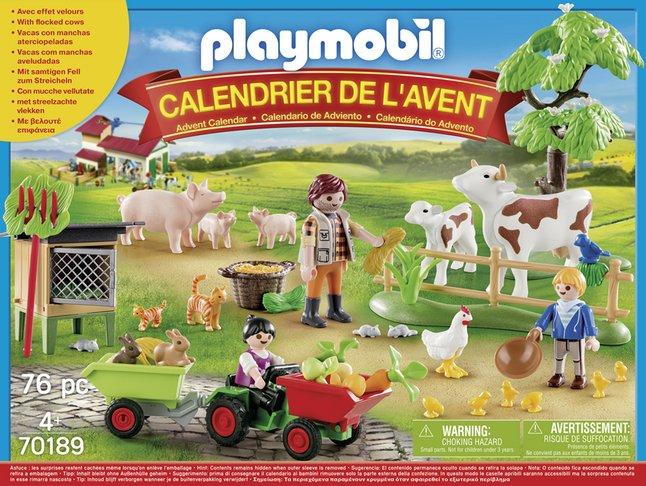 Calendrier L Avent Playmobil.Playmobil 70189 Calendrier De L Avent Animaux De La Ferme