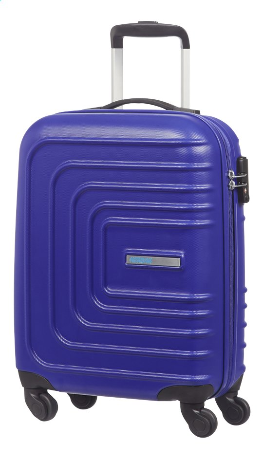 c6ff5f0a198 Afbeelding van American Tourister Harde reistrolley Sunset Square Spinner  nautical blue 55 cm from DreamLand