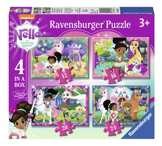 Afbeelding van Ravensburger meegroeipuzzel 4-in-1 Nella The Princess Knight from DreamLand