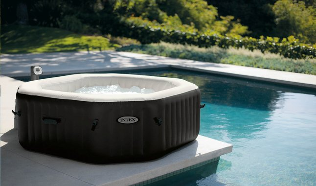 intex jacuzzi purespa jet bubble deluxe 6 personen dreamland. Black Bedroom Furniture Sets. Home Design Ideas