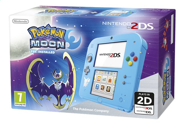 Afbeelding van Nintendo 2DS console + Pokémon Moon pre-installed from DreamLand