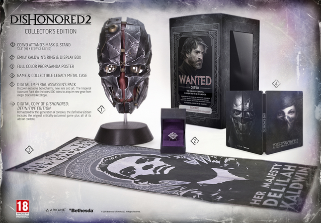 Afbeelding van PC Dishonored 2: Collector's edition ENG/FR from DreamLand