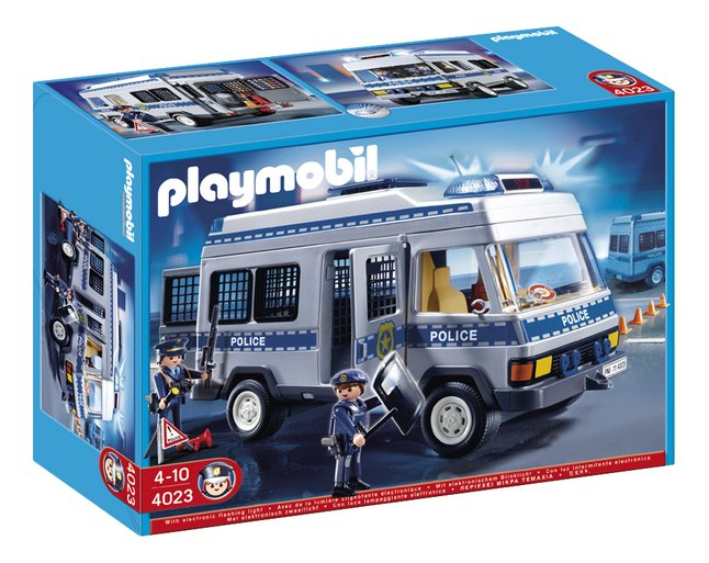PLAYMOBIL Exclusive 4023 Fourgon équipé et policiers