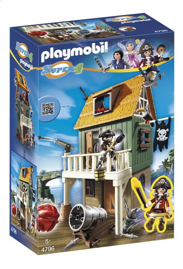 Afbeelding van PLAYMOBIL Super 4 4796 Geheime piratenvesting met Ruby Red from DreamLand