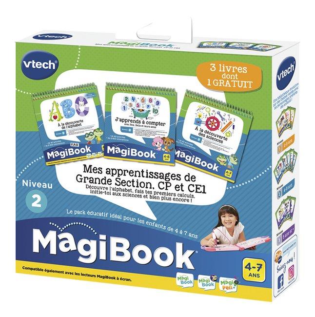 Vtech Magibook Livre Educatif Niv 2 Mes Premiers Apprentissages Niveau Grande Section 3 Pieces