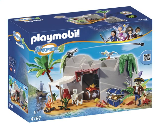 Afbeelding van PLAYMOBIL Super 4 4797 Piratenschuiplaats from DreamLand