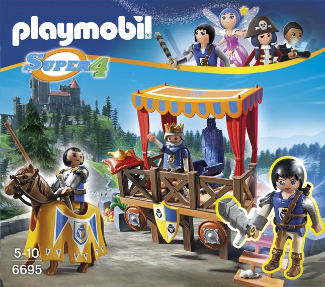 Image pour Playmobil Super 4 6695 Tribune royale avec Alex à partir de DreamLand