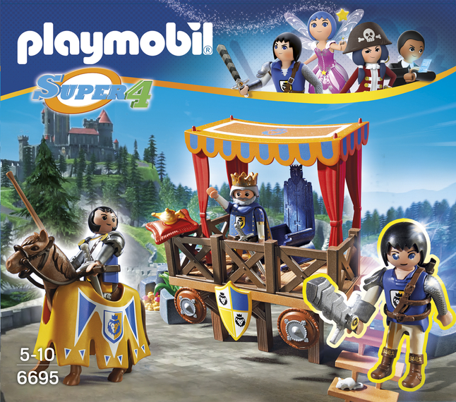 Afbeelding van Playmobil Super 4 6695 Koningstribune met Alex from DreamLand