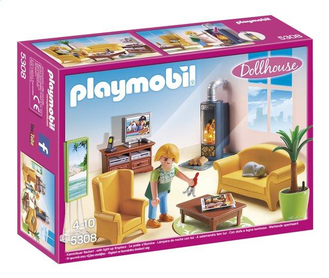 Image pour Playmobil Dollhouse 5308 Salon avec poêle à bois à partir de DreamLand