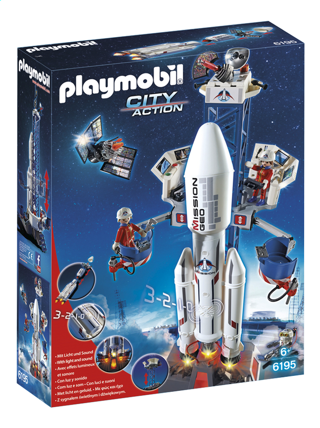 Afbeelding van Playmobil City Action 6195 Lanceerbasis met raket from DreamLand