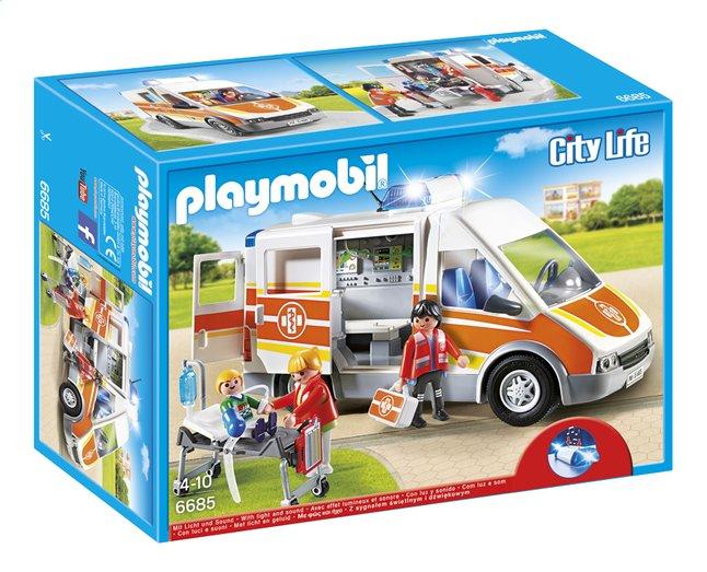 Image pour Playmobil City Life 6685 Ambulance avec gyrophare et sirène à partir de DreamLand