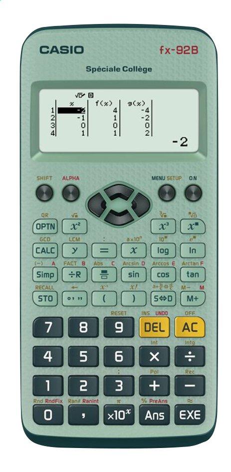 Image pour Casio calculatrice FX 92 B Special College à partir de DreamLand