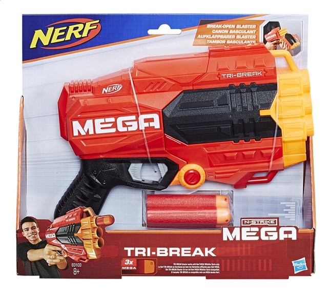 Afbeelding van Nerf Blaster Mega Tri-Break from DreamLand