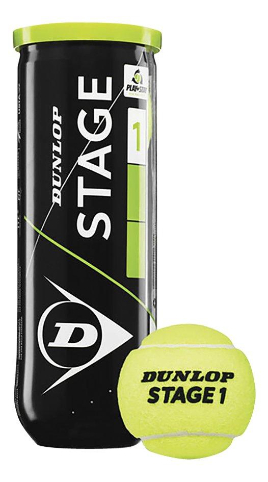 Dunlop balle de tennis Stage 1 Green - 3 pièces