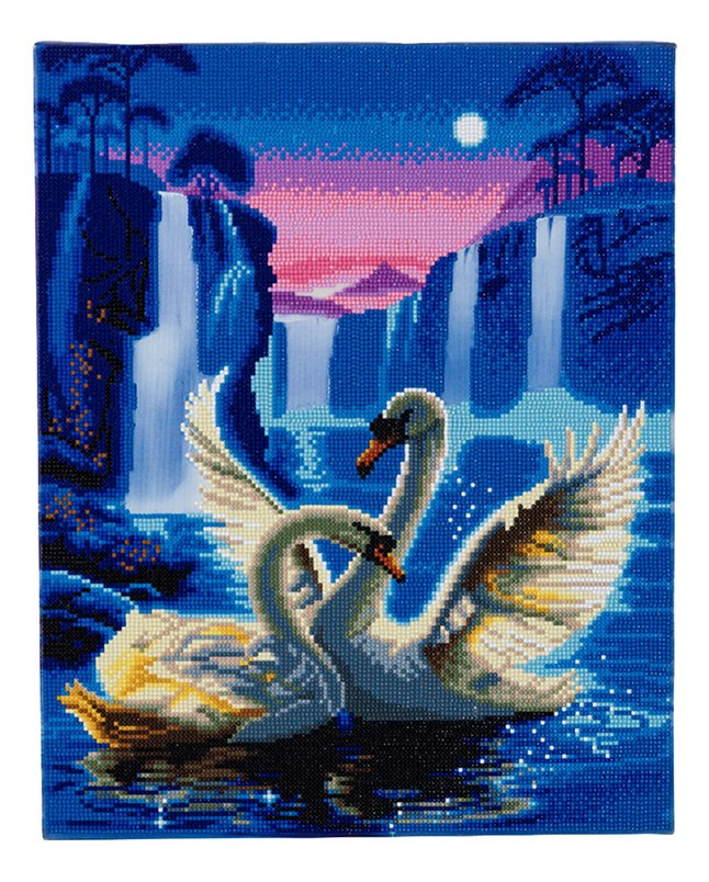 Afbeelding van Craft Buddy Crystal Art kit Moonlight Swans from DreamLand