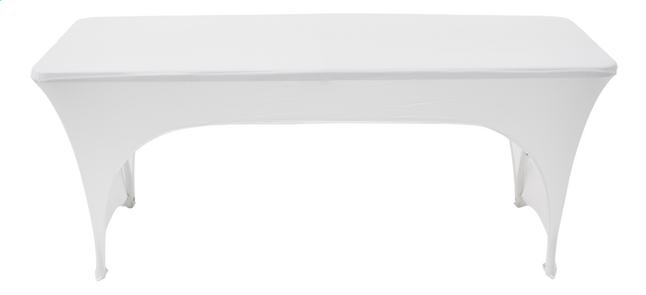Housse stretch pour table blanc L 180 x Lg 75 cm