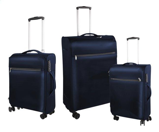 Afbeelding van Set van 3 zachte koffers Grink S + M + L blauw from DreamLand