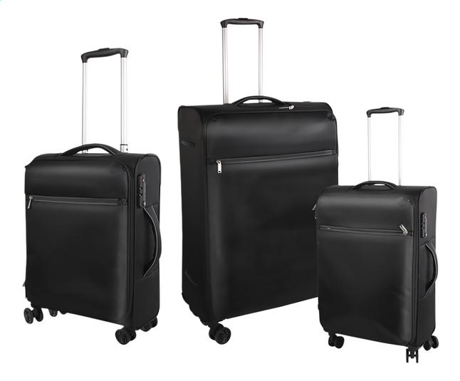 Afbeelding van Set van 3 zachte koffers Grink S + M + L zwart from DreamLand