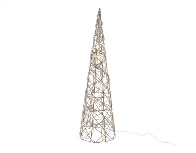 Image pour Décoration lumineuse LED cône blanc chaud H 90 cm à partir de DreamLand