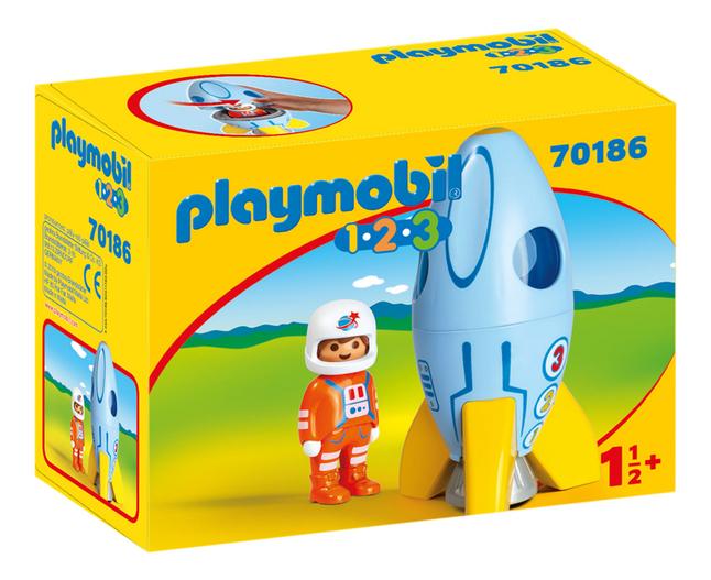 PLAYMOBIL 1.2.3 70186 Fusée et astronaute