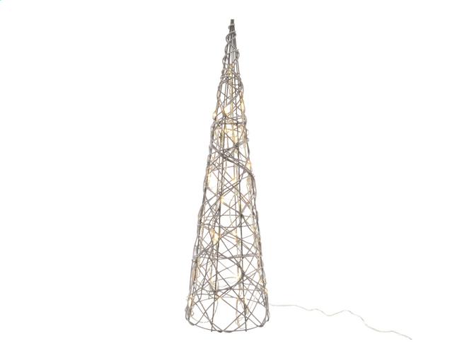 Image pour Décoration lumineuse LED cône blanc chaud H 60 cm à partir de DreamLand