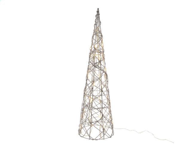 Image pour Décoration lumineuse LED cône blanc chaud H 120 cm à partir de DreamLand