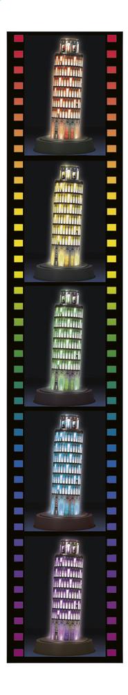 Ravensburger 3D puzzle Night Edition Toren van Pisa | DreamLand