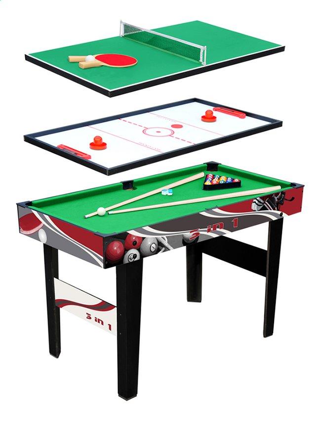 f7046425be754c Table de jeu 3 in 1 billard ping-pong air hockey   DreamLand