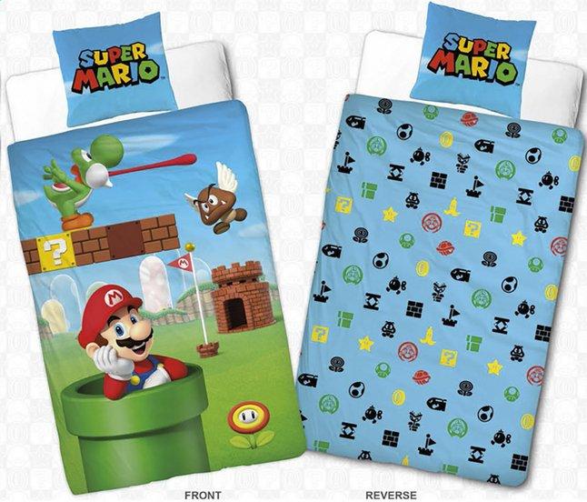 Afbeelding van Dekbedovertrek Mario Bros Nintendo katoen 140 x 200 cm from DreamLand