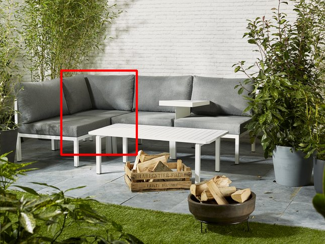 Fauteuil d'angle Selecta modulaire blanc/anthracite