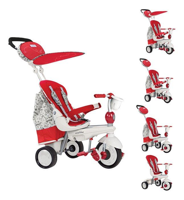 smarTrike driewieler 5-in-1 Dazzle rood/wit
