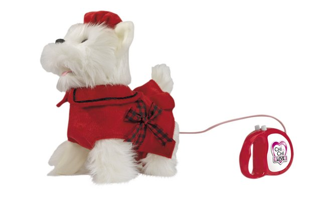 Chi Chi LOVE peluche interactive Poshi West Highland Terrier