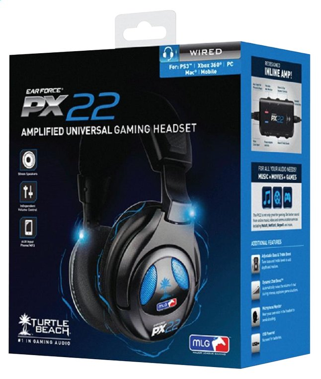 Afbeelding van Turtle Beach PS4/PS3 headset Ear Force PX22 zwart from DreamLand