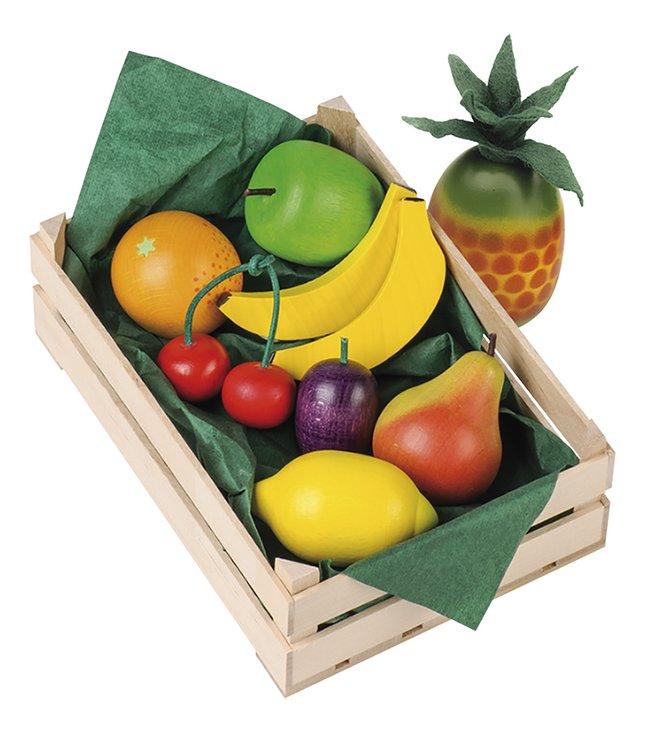 Erzi cagette avec fruits en bois