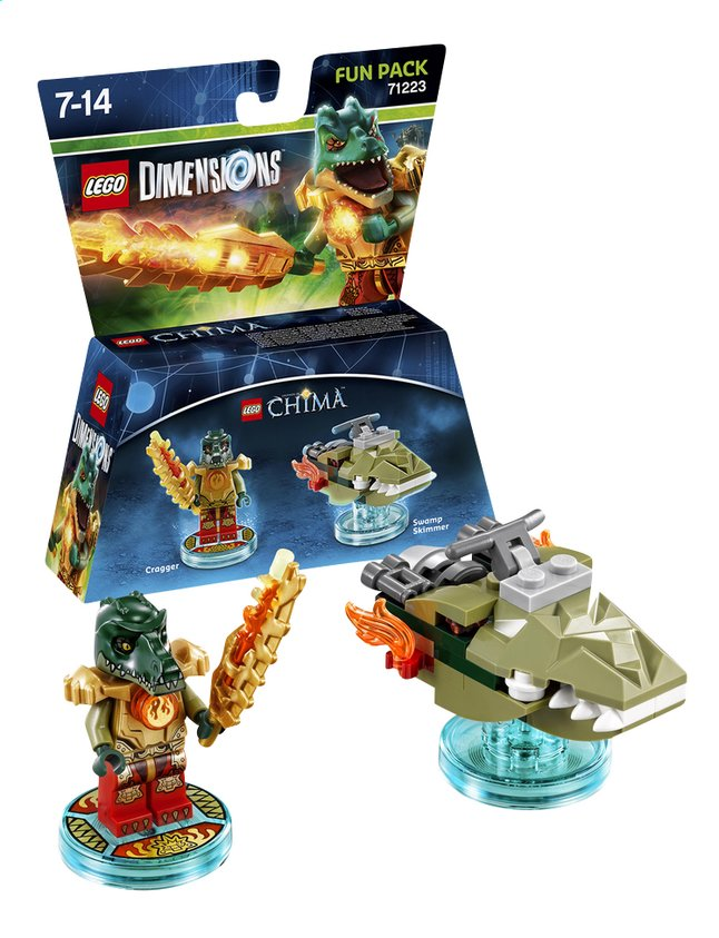 Afbeelding van LEGO Dimensions figuur Fun Pack Chima 71232 Cragger from DreamLand
