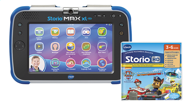 Image pour VTech tablette Storio MAX XL 2.0 bleu + Pat' Patrouille à partir de DreamLand