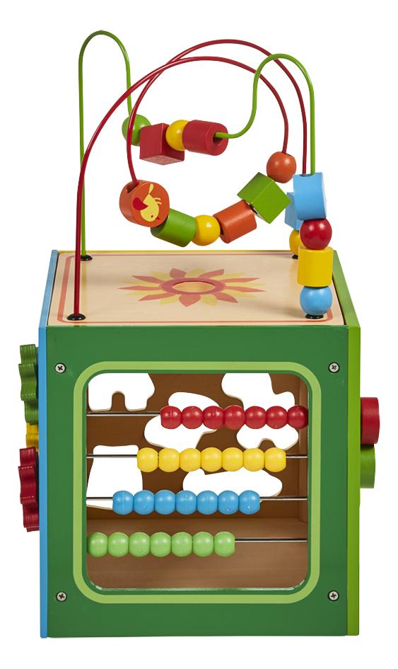 DreamLand cube d'activités en bois avec 7 animaux