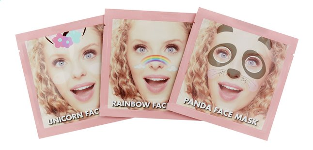 Afbeelding van Who's That Girl Selfie Masks - 3 stuks from DreamLand