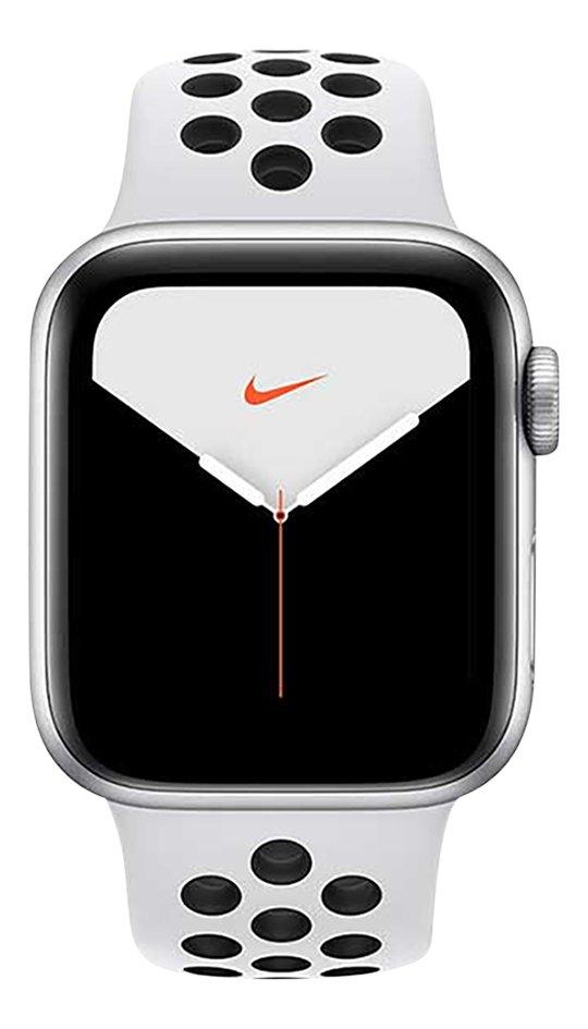 Apple Watch Series 5 40 mm aluminium argent/Platine pur/Noir