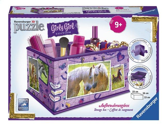 Afbeelding van Ravensburger 3D-puzzel Girly Girl opbergdoos paarden from DreamLand