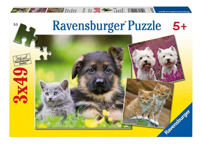 Afbeelding van Ravensburger 3-in-1 puzzel Honden en katten from DreamLand