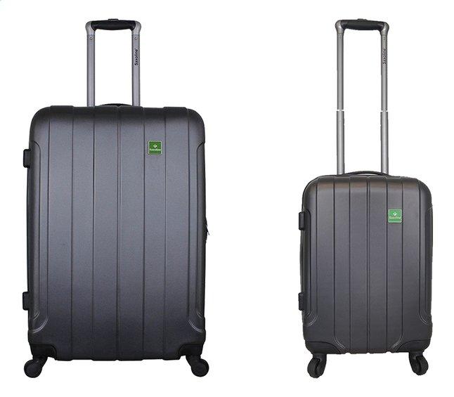 Saxoline set van 2 harde koffers in antraciet