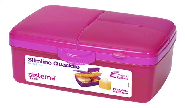 Afbeelding van Sistema lunchbox Slimline Quaddie roze from DreamLand