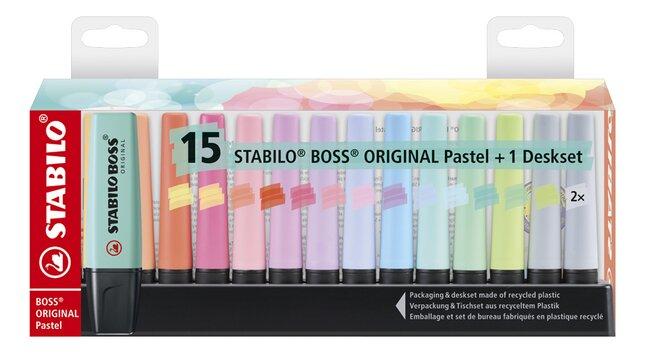 STABILO BOSS Original Pastel fluostift 50 Years Edition + houder