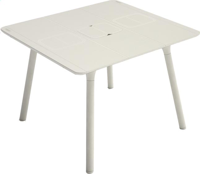 d2488cd93bf6f Image pour Grosfillex table de jardin Connection gris 100 x 100 cm à partir  de DreamLand