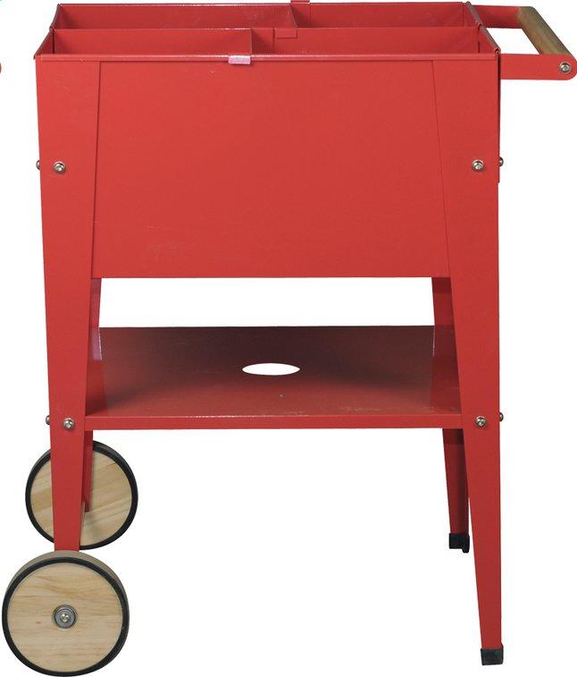 Afbeelding van Kweektafel Wheels rood 60 x 60 cm from DreamLand