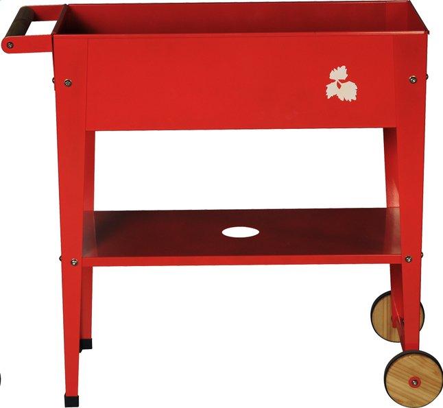 Image pour Table de culture Trolley 75 x 35 cm rouge à partir de DreamLand