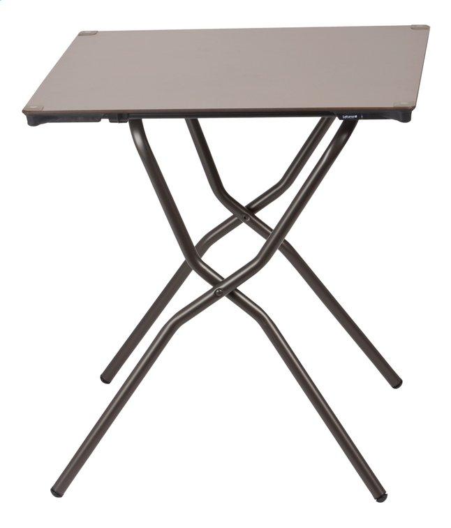 Lafuma Table pliante Anytime taupe L 64 x Lg 68 cm