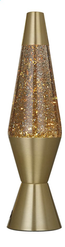 Lavalamp goud met glitter